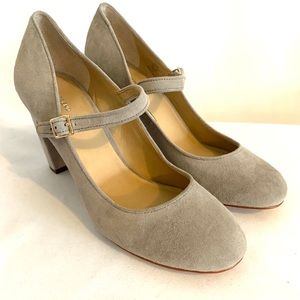 Lands End suede chunky heels size 7.5